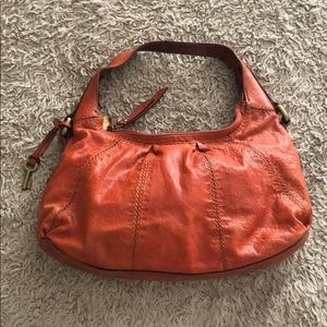 Fall Orange Over the Shoulder Fossil Purse 🍁🍂